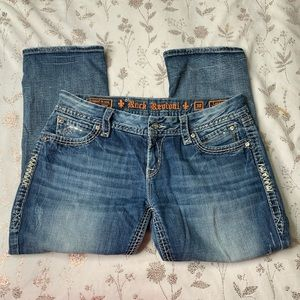 Rock Revival Lynkai Easy Crop Jeans, Sz.30